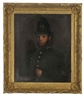 British School, 19th Century, Portrait of a police sergeant, half-length, in uniform