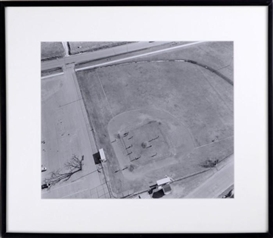 "Artwork by Frank Gohlke, ""Aerial View, Baseball Game, Elk River"", Made of Gelatin silver print"