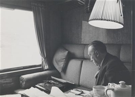 Artwork by Erich Lessing, Konrad Adenauer during Electioneering, Made of vintage print, gelatine-silver