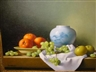 Christopher Cawthorn, 2 works: Still Life with Fruit and Vessels