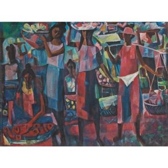 Market Vendors By Vicente Manansala ,1949
