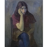 Raphael Soyer, Young Woman in Purple