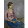 Raphael Soyer, Young Woman in Pink