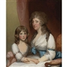 Gilbert Stuart, Portrait of Mrs. Samuel Dick and Her Daughter