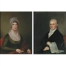 James Peale, A Pair of Portraits: Mr. and Mrs. Zachariah Poulson of Philadelphia