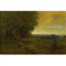 George Inness, Shepherd and Flock at Sunset