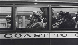 Artwork by Esther Bubley, Greyhound Bus Passengers (Coast to Coast), Made of Gelatin silver print