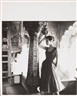 Norman Parkinson, Ann Gunning wearing Susan Small at Liberty, Rose Red Chiffon Short Evening Dress, for Vogue