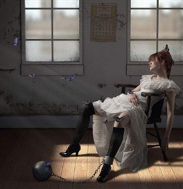 Artwork by Jamie Baldridge, The Perils of Lepidoptery, Made of Pigment print