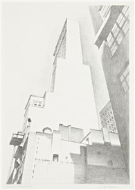 Artwork by Charles Sheeler, Delmonico Building, Made of Lithograph on wove paper