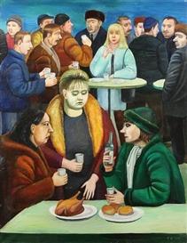 Artwork by Tatiana Nazarenko, Devichnik, Made of Oil on canvas