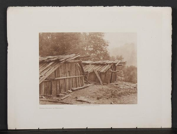 Astonishing Edward S Curtis Yurok Houses At Weitspus 1923 Mutualart Download Free Architecture Designs Embacsunscenecom
