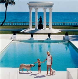 Artwork by Slim Aarons, Mrs. F.C. Winston Guest and Son, Made of Lambda chromogenic