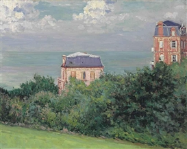 Artwork by Gustave Caillebotte, Villas à Villers-sur-Mer, Made of Oil on canvas