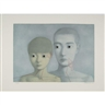 Zhang Xiaogang, 2 works: Sister; Brother and Sister