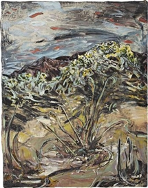 Artwork by Hernan Bas, The burning bush, before the fire, Made of Mixed media on linen