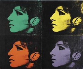 Artwork by Deborah Kass, 4 Barbra's (Jewish Jackie Series), Made of Synthetic polymer and silkscreen ink on canvas