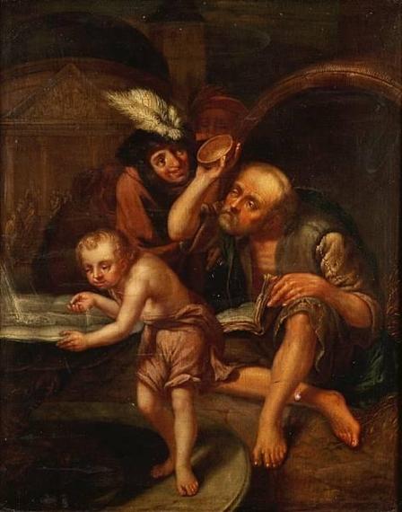 Tilius Jan Diogenes Of Sinope Throwing Away His Bowl