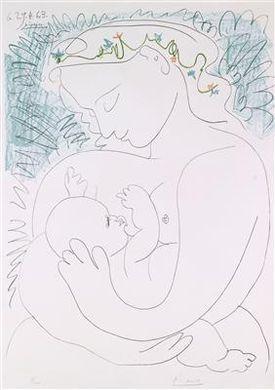 Picasso Pablo   Grande Maternité (1963)   MutualArt