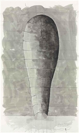 Artwork by Martin Puryear, Niche, Made of ink and graphite on paper