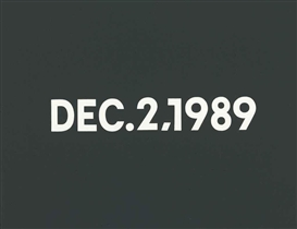 On Kawara, Dec. 2, 1989 'Saturday'