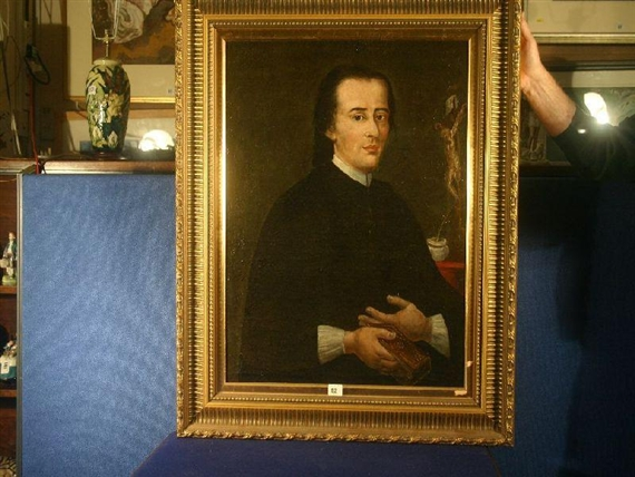 f1adf97c439c Artwork by British School, 19th Century, Portrait of an ecclesiastical  gentleman, Made of