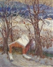 Susan Gertrude Schell, Snow Scene, Covered Bridge