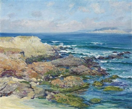 Artwork by Guy Rose, Martin's Point, Carmel, Made of oil on canvas