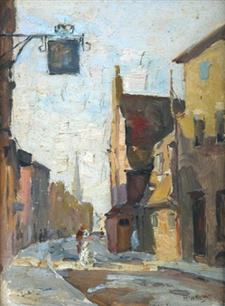 English Street Scene By W.B. McInnes