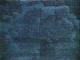 Artwork by Eva Schlegel, Untitled (cloud motif) (2 parts), Made of oil, lacquer on gesso, laid down on hardboard