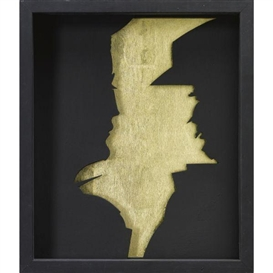Artwork by Gino De Dominicis, Senza titolo, Made of acrylic and gold leaf on shaped board and painted wood box