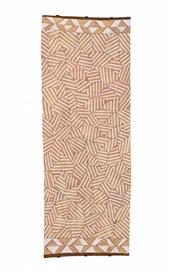 Artwork by Samuel Namunjdja, GUNGURA, Made of natural earth pigments and synthetic binder on eucalyptus bark