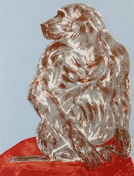 Elisabeth Frink Red Dog For Sale