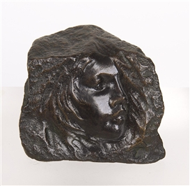 Artwork by Camille Claudel, TÊTE D'ENFANT, Made of Bronze - Dark brown patina