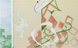 Artwork by Rolf Winnewisser, Diptych: Untitled, Made of Acrylic on cotton