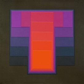 Artwork by Karl Gerstner, COLOR SOUND 1 D, Made of Nitro lacquer on phenolic resin boards