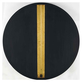 Artwork by Gino De Dominicis, Senza titolo, Made of oil on wood, brass rod, magnet and wooden ball