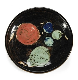 Artwork by Viola Frey, Bowl with Fruit, Made of painted and glazed stoneware