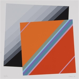Artwork by Eugenio Carmi, 2 works: Senza titolo, Made of Silkscreens printed in colors