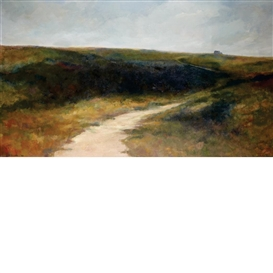 Artwork by Anne Packard, Cape Cod Dunes, Made of Oil on canvas