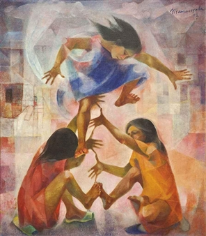 Luksong-Tinik (Jumping over Thorns) By Vicente Manansala ,1973
