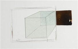 Artwork by Jean Mauboulès, Untitled, Made of Mixed media and glass on paper