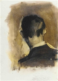 Stephen Conroy, Back of head, study: 3 Bob a week