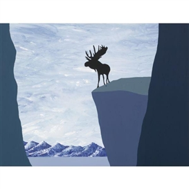 Artwork by Charles Pachter, Lookout, Made of acrylic on canvas