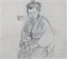 Mary Bell Eastlake, 4 WORKS: JAPANESE PORTRAIT STUDIES (double sided); TWO BOATS