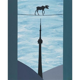 Artwork by Charles Pachter, TOUR DE FORCE, Made of acrylic on canvas