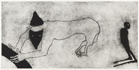 Artwork by Max Neumann, UNTITLED, Made of Carborundum etching on paper on nettle