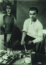 Artwork by Umbo, Portrait of an Artist, Made of gelatin silver print