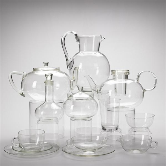 wagenfeld wilhelm glass tea and water service approximately 40 pieces 1930 mutualart. Black Bedroom Furniture Sets. Home Design Ideas