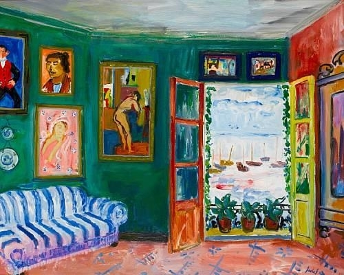 Artwork by Carlos Nadal, Fenêtre ouverte, Made of oil on canvas
